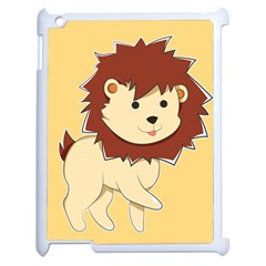 Happy Cartoon Baby Lion Apple Ipad 2 Case (white) by Catifornia