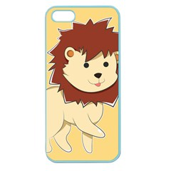 Happy Cartoon Baby Lion Apple Seamless Iphone 5 Case (color) by Catifornia