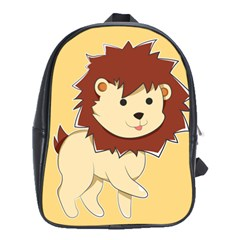 Happy Cartoon Baby Lion School Bags (xl)  by Catifornia
