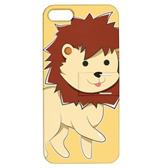 Happy Cartoon Baby Lion Apple Iphone 5 Hardshell Case With Stand by Catifornia