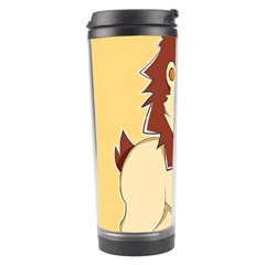 Happy Cartoon Baby Lion Travel Tumbler by Catifornia