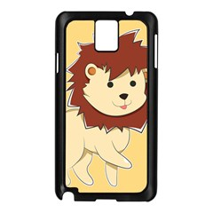 Happy Cartoon Baby Lion Samsung Galaxy Note 3 N9005 Case (black) by Catifornia