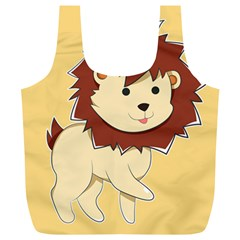 Happy Cartoon Baby Lion Full Print Recycle Bags (l)  by Catifornia