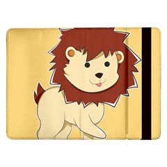 Happy Cartoon Baby Lion Samsung Galaxy Tab Pro 12 2  Flip Case