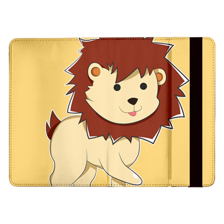 Happy Cartoon Baby Lion Samsung Galaxy Tab Pro 12.2  Flip Case