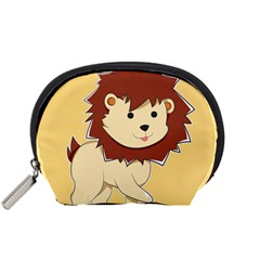 Happy Cartoon Baby Lion Accessory Pouches (small)  by Catifornia