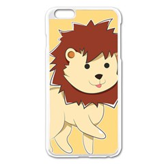 Happy Cartoon Baby Lion Apple Iphone 6 Plus/6s Plus Enamel White Case by Catifornia