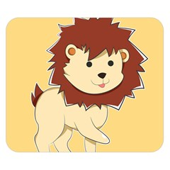Happy Cartoon Baby Lion Double Sided Flano Blanket (small)  by Catifornia