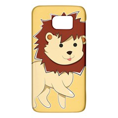 Happy Cartoon Baby Lion Galaxy S6 by Catifornia