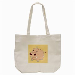 Happy Cartoon Baby Hippo Tote Bag (cream) by Catifornia