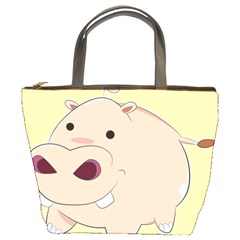 Happy Cartoon Baby Hippo Bucket Bags by Catifornia