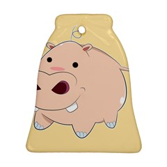 Happy Cartoon Baby Hippo Bell Ornament (two Sides) by Catifornia
