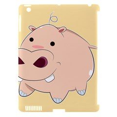 Happy Cartoon Baby Hippo Apple Ipad 3/4 Hardshell Case (compatible With Smart Cover)