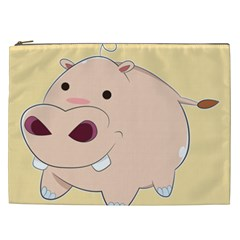 Happy Cartoon Baby Hippo Cosmetic Bag (xxl)  by Catifornia