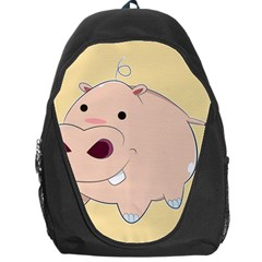 Happy Cartoon Baby Hippo Backpack Bag by Catifornia