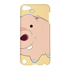 Happy Cartoon Baby Hippo Apple Ipod Touch 5 Hardshell Case by Catifornia