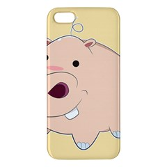 Happy Cartoon Baby Hippo Apple Iphone 5 Premium Hardshell Case by Catifornia