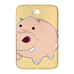 Happy Cartoon Baby Hippo Samsung Galaxy Note 8 0 N5100 Hardshell Case  by Catifornia
