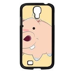 Happy Cartoon Baby Hippo Samsung Galaxy S4 I9500/ I9505 Case (black) by Catifornia