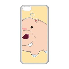 Happy Cartoon Baby Hippo Apple Iphone 5c Seamless Case (white) by Catifornia