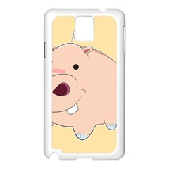 Happy Cartoon Baby Hippo Samsung Galaxy Note 3 N9005 Case (white) by Catifornia