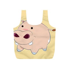Happy Cartoon Baby Hippo Full Print Recycle Bags (s)
