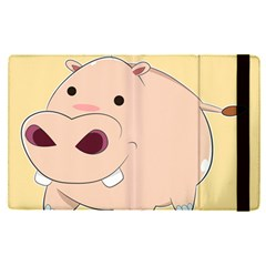 Happy Cartoon Baby Hippo Apple Ipad Pro 9 7   Flip Case by Catifornia