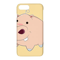 Happy Cartoon Baby Hippo Apple Iphone 7 Plus Hardshell Case by Catifornia