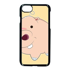 Happy Cartoon Baby Hippo Apple Iphone 7 Seamless Case (black) by Catifornia
