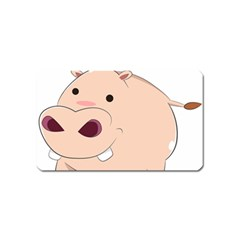 Happy Cartoon Baby Hippo Magnet (name Card) by Catifornia