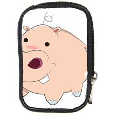 Happy Cartoon Baby Hippo Compact Camera Cases by Catifornia