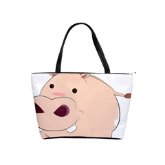 Happy Cartoon Baby Hippo Shoulder Handbags by Catifornia