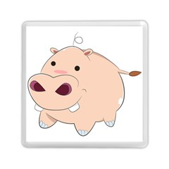 Happy Cartoon Baby Hippo Memory Card Reader (square)  by Catifornia