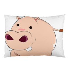 Happy Cartoon Baby Hippo Pillow Case (two Sides) by Catifornia