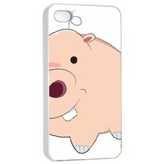 Happy Cartoon Baby Hippo Apple Iphone 4/4s Seamless Case (white) by Catifornia