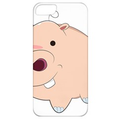 Happy Cartoon Baby Hippo Apple Iphone 5 Classic Hardshell Case by Catifornia