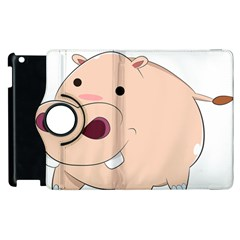 Happy Cartoon Baby Hippo Apple Ipad 2 Flip 360 Case by Catifornia
