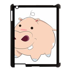 Happy Cartoon Baby Hippo Apple Ipad 3/4 Case (black) by Catifornia
