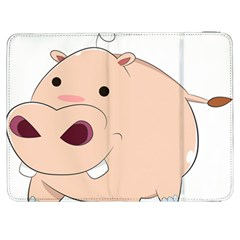 Happy Cartoon Baby Hippo Samsung Galaxy Tab 7  P1000 Flip Case by Catifornia
