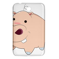 Happy Cartoon Baby Hippo Samsung Galaxy Tab 3 (7 ) P3200 Hardshell Case  by Catifornia