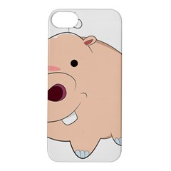 Happy Cartoon Baby Hippo Apple Iphone 5s/ Se Hardshell Case by Catifornia