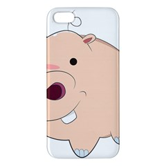 Happy Cartoon Baby Hippo Iphone 5s/ Se Premium Hardshell Case by Catifornia