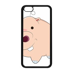 Happy Cartoon Baby Hippo Apple Iphone 5c Seamless Case (black) by Catifornia