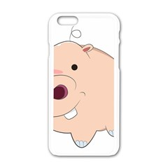 Happy Cartoon Baby Hippo Apple Iphone 6/6s White Enamel Case by Catifornia