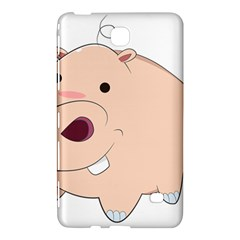 Happy Cartoon Baby Hippo Samsung Galaxy Tab 4 (8 ) Hardshell Case  by Catifornia