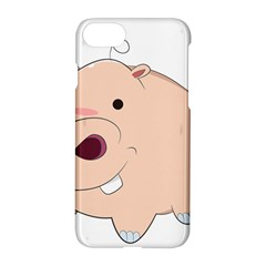 Happy Cartoon Baby Hippo Apple Iphone 7 Hardshell Case by Catifornia