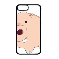 Happy Cartoon Baby Hippo Apple Iphone 7 Plus Seamless Case (black) by Catifornia