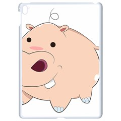 Happy Cartoon Baby Hippo Apple Ipad Pro 9 7   White Seamless Case by Catifornia
