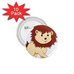 Happy Cartoon Baby Lion 1 75  Buttons (10 Pack) by Catifornia