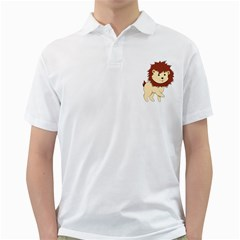 Happy Cartoon Baby Lion Golf Shirts by Catifornia
